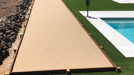 Granite Bay Oystershell Colored Bocce Court